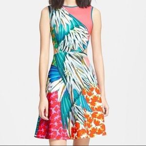 Clover Canyon Carnival Tropical Print Dress